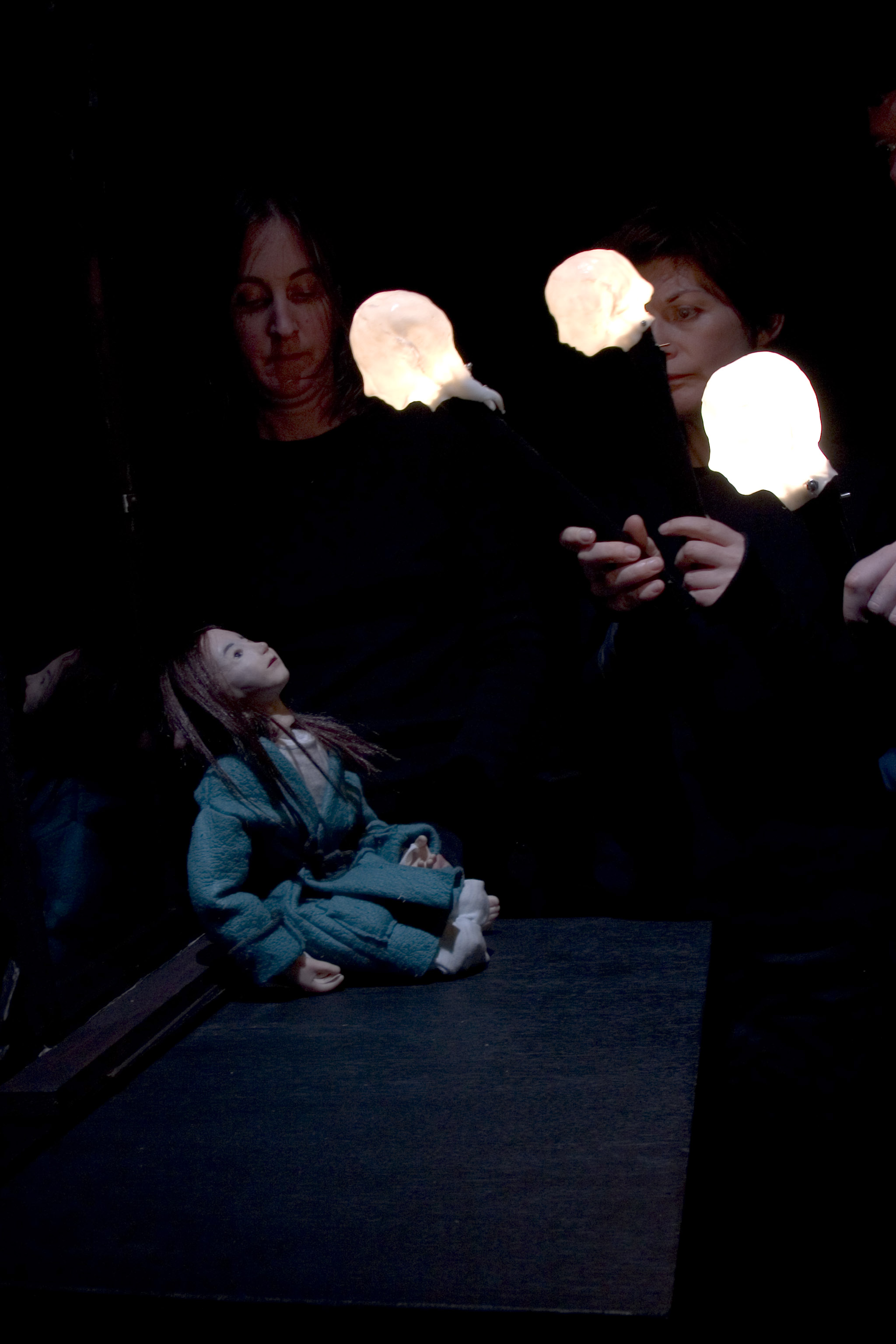 Ghost children in the Mirror. Photographer Jim Berkeley