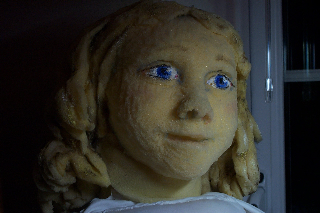 Foam carved Puppet Head, from a series made for Gallowglass