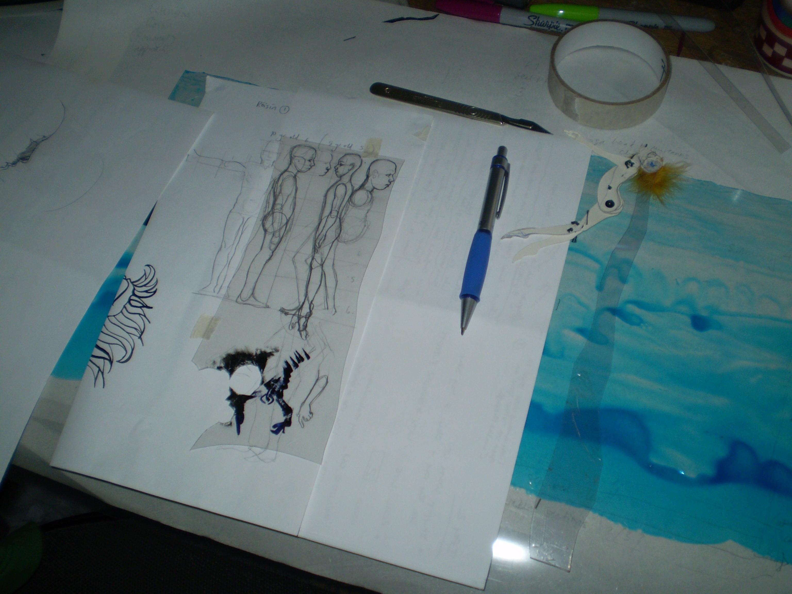 Shadow Puppet making for Róisin agus an Rón