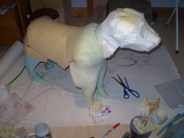 Making a Dead Dog for Team Educational Theatre Company