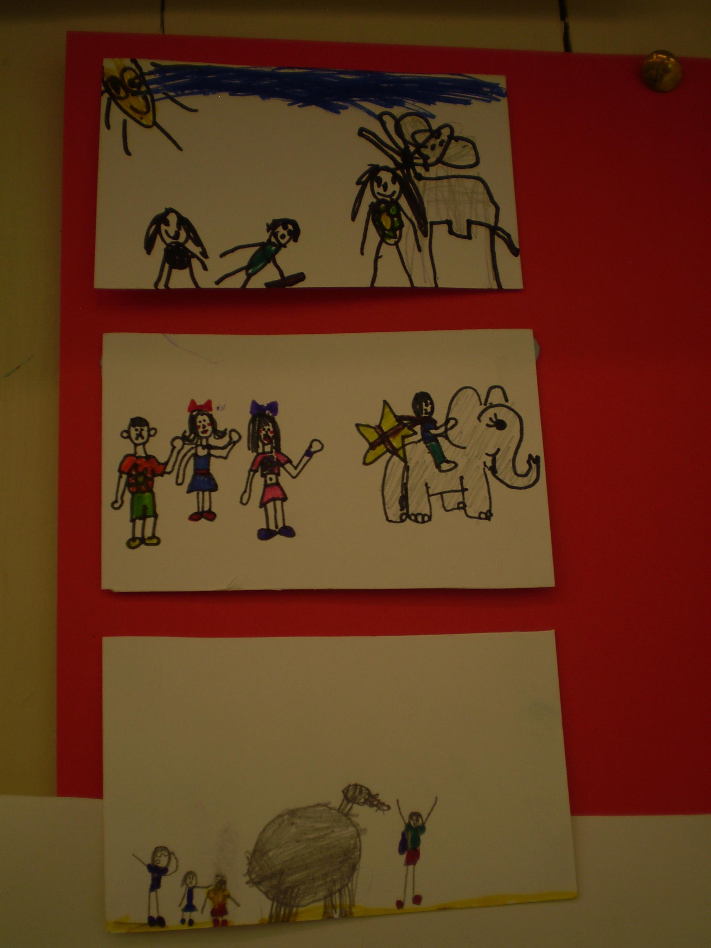 Storyboard from Dublin City Council's Children's Art