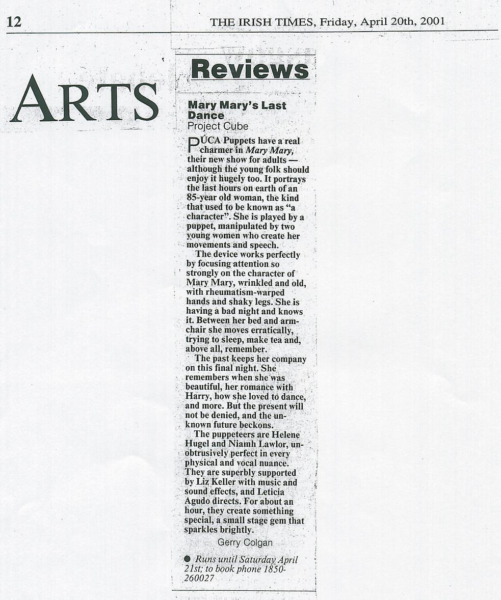 irish-times review