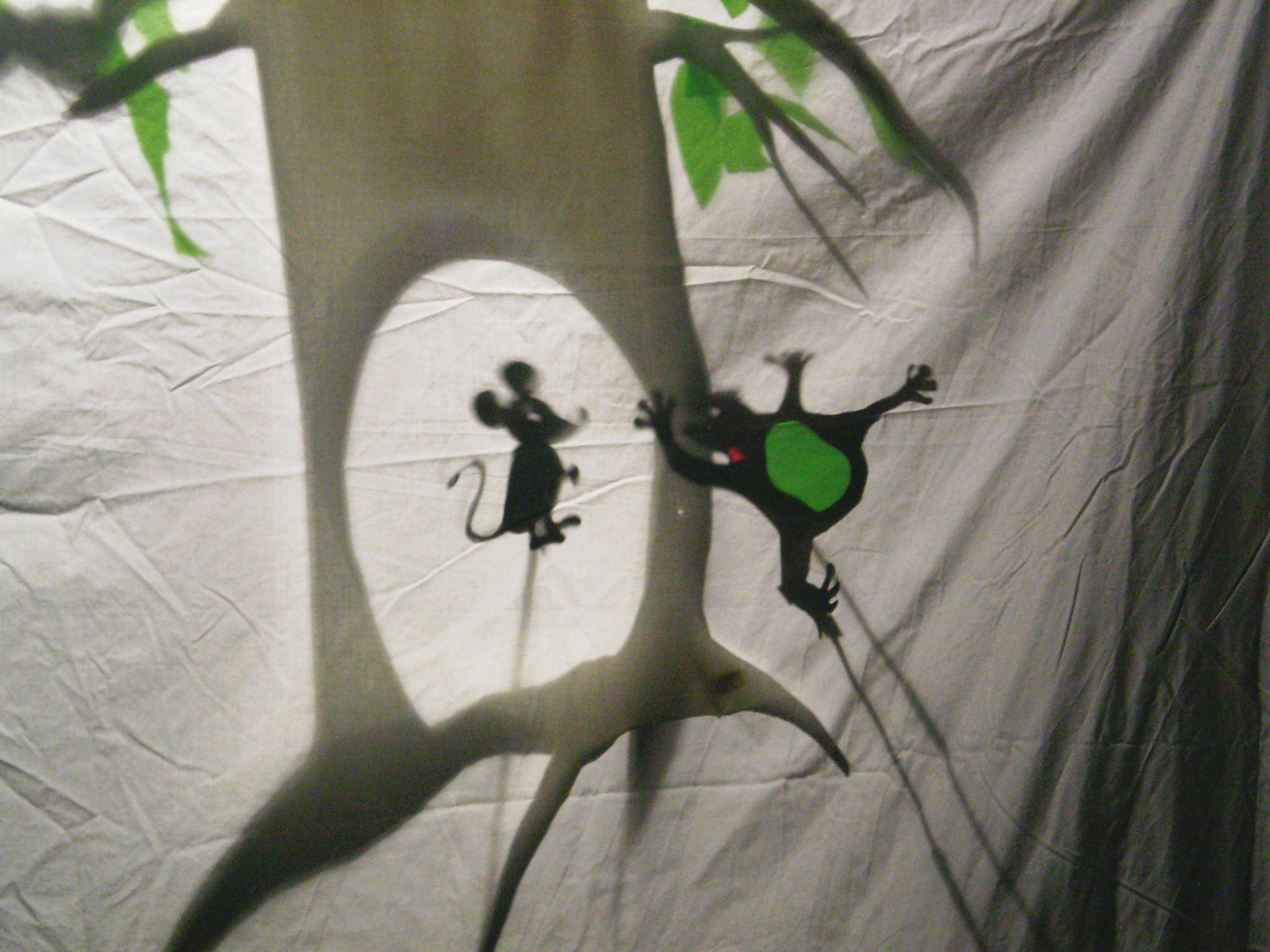 Shadow Puppets and set by students in the National College of Art and Design.
