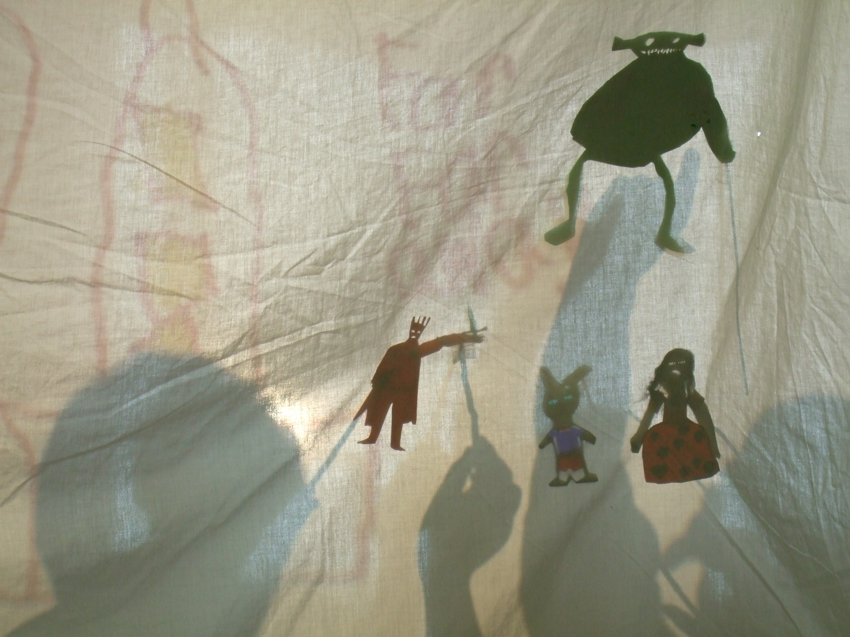 Shadow Puppetry from Dublin City Council\'s Children\'s Art In Libraries Programme, Drumcondra